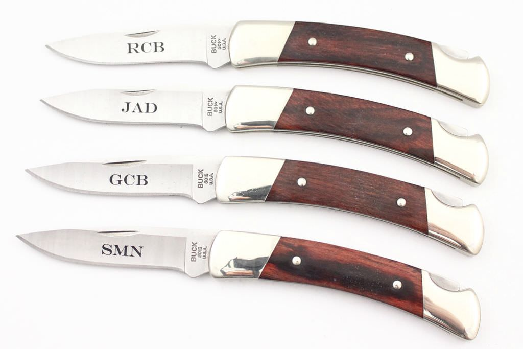 Buck Knives Wedding Gift : Engraved Groomsmen Knives DLT Trading Blog
